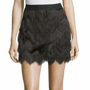 BCBG Max Azria Fringe Skirt